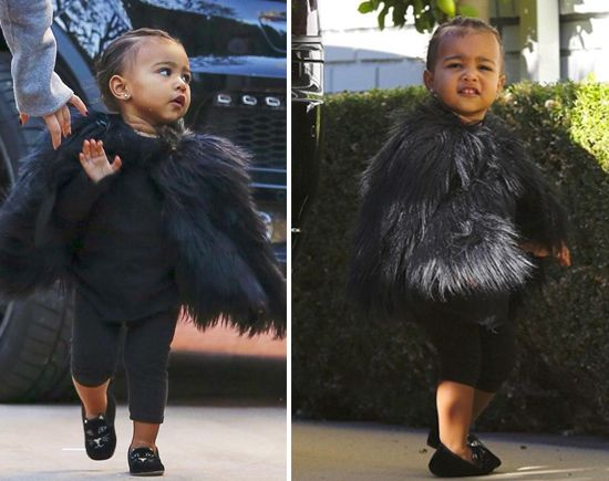 Baby North West Spotted In A Baby Faux Fur Jacket (photos) : Old School Hip Hop Radio Station, Online Radio Station, News And Gossip