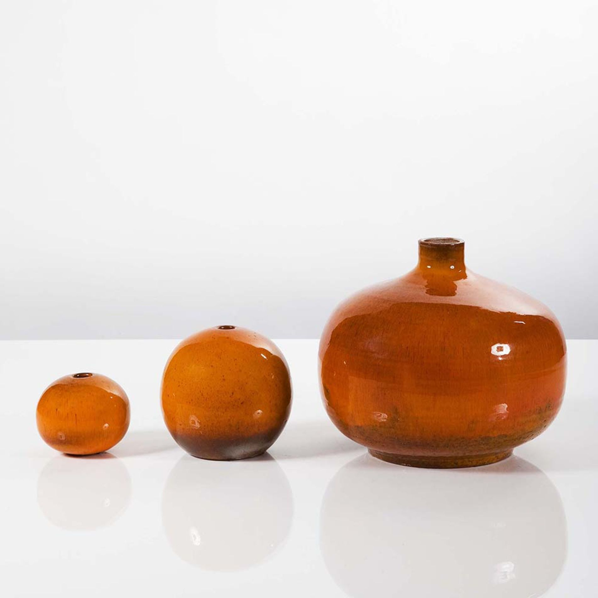 Perignem 3 orange ceramic vases misc art and design 3 orange ceramic vases reviewsmspy