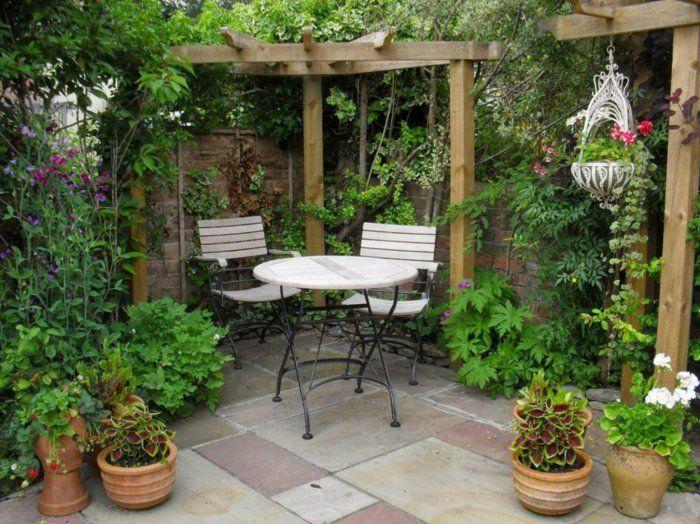 garten pergola erholung sonne pflanzen garten gestalten ideen, Terrassen ideen