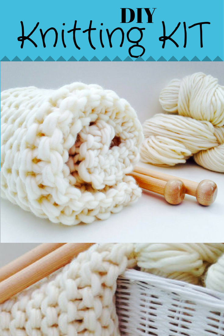 DIY Knitting kit...materials include everything needed to