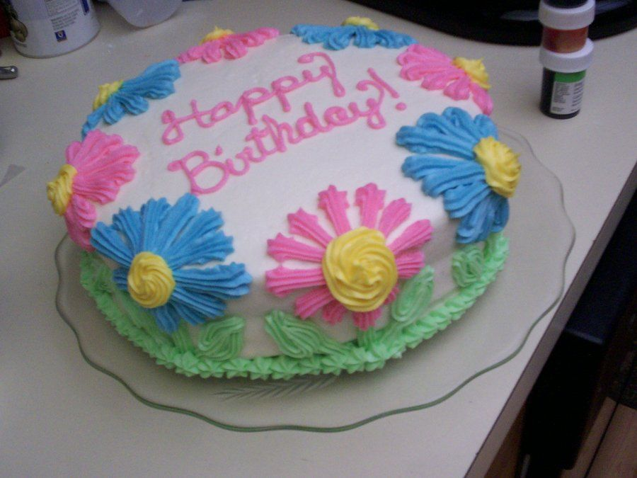 Flower birthday cake birthday cake with flowers image
