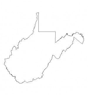 west virginia outline shapefile