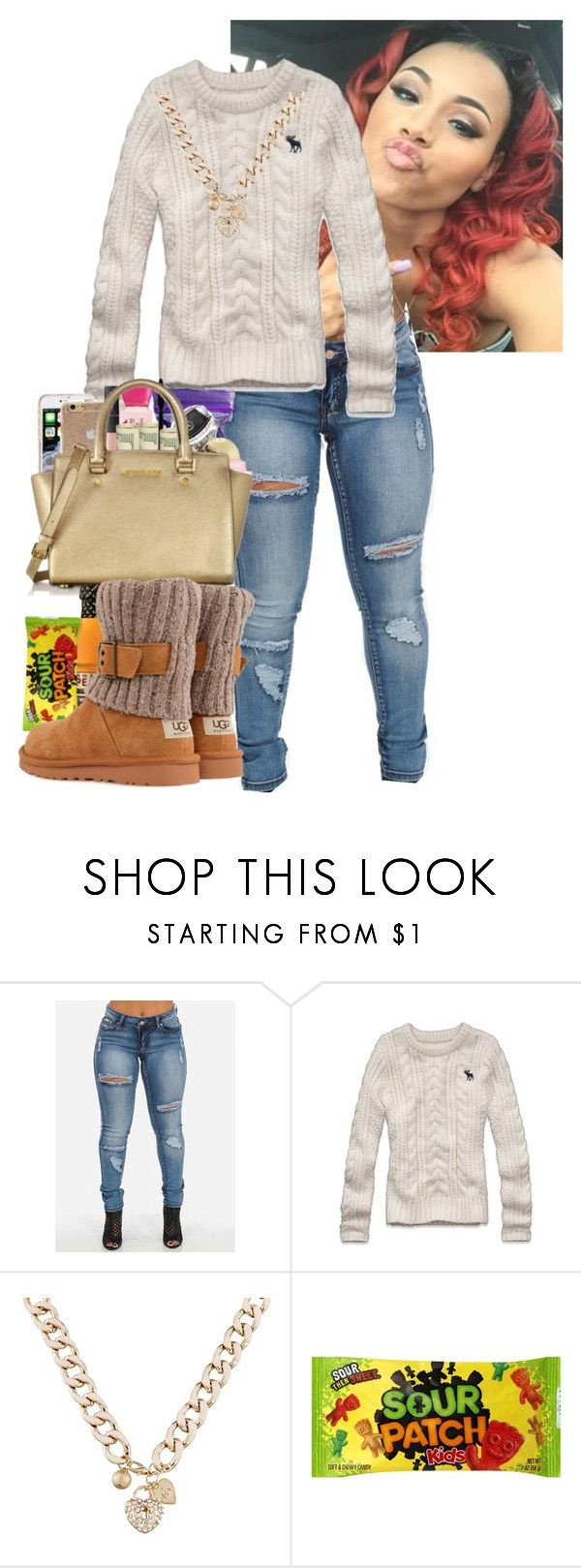 """""""Untitled #278"""" by highofflay11 ❤ liked on Polyvore featuring Abercrombie & Fitch, Lipsy and UGG Australia"""