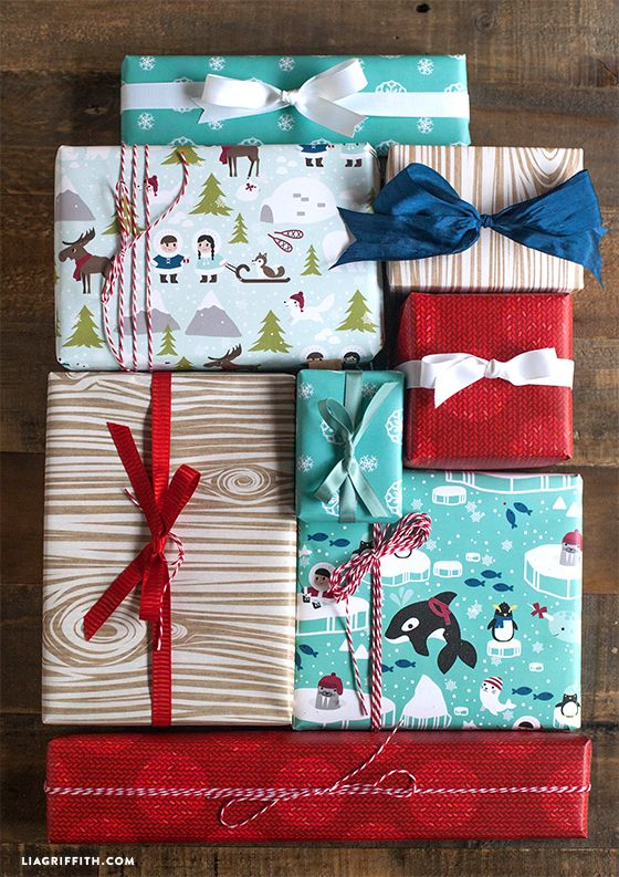 Kid\u0027s Printable Gift Wrap Wraps, Christmas gifts and Gift