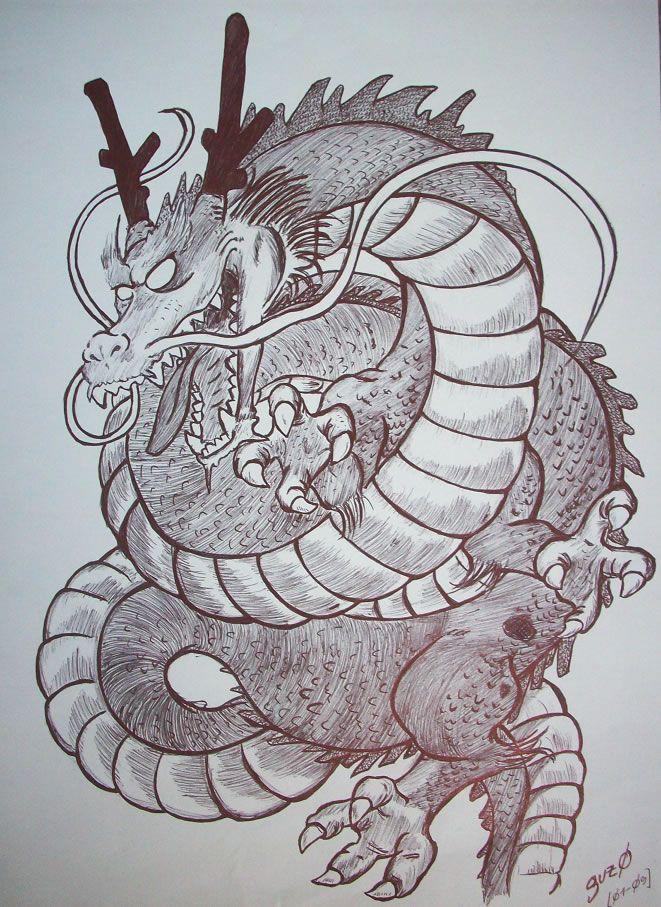 Shenlong Dibujos Manga A Lapiz Dragones Dibujos De Dragon