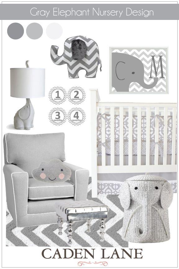Gray Elephant Nursery Design Nursery Themes Neutral