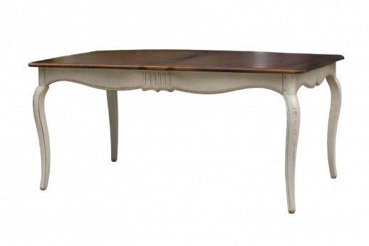 Esstisch Vintage Weiss Massiv Holz Tisch Kuchentisch Speisetisch Shabby Antik Side Chairs Dining Table Furniture