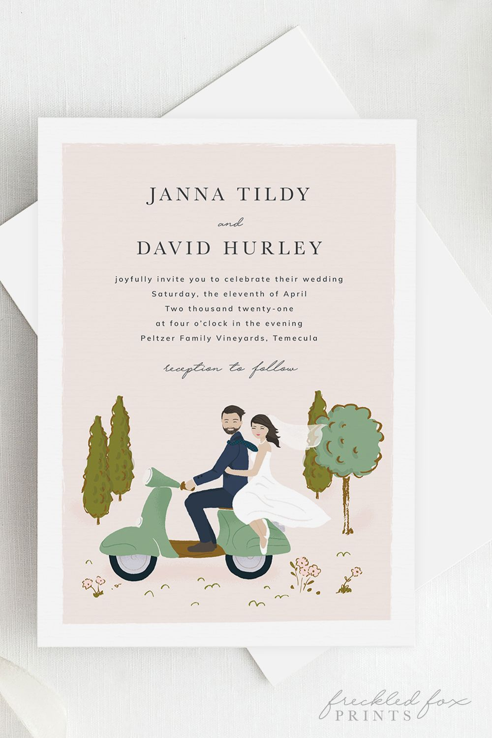 Wedding Invitation Illustration, Wedding Invitation