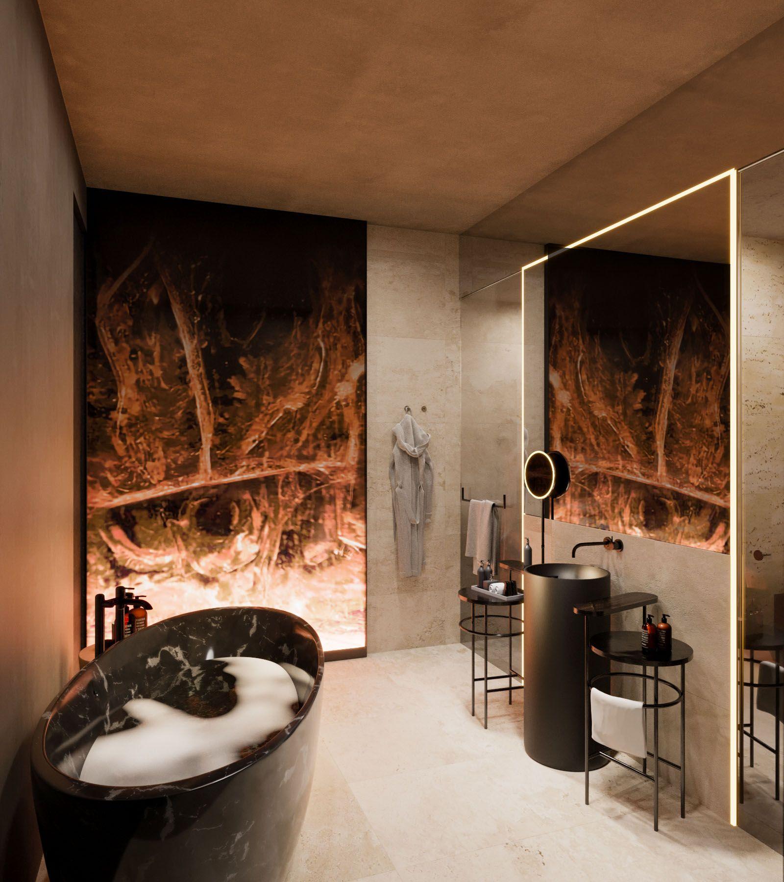 Luxurious Upscale Bathroom Interior Upscale Bathroom Design Hotel Design Luxury Hotel Design Modern Design Hotel Interior Design Sundukov V 2020 G