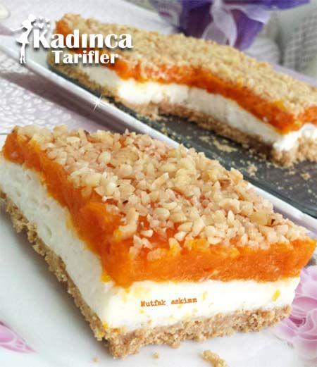 Bisküvili Balkabağı Tatlısı Tarifi, Nasıl Yapılır #cheesecakes