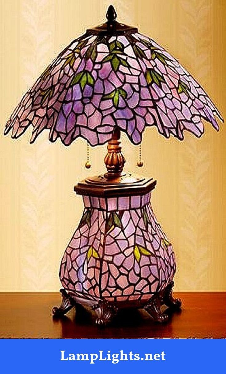 These Original Tiffany Lighting Lamps Had Stained Portions And Very Bright Colors Appearing On Diff Stained Glass Table Lamps Tiffany Lamps Stained Glass Lamps