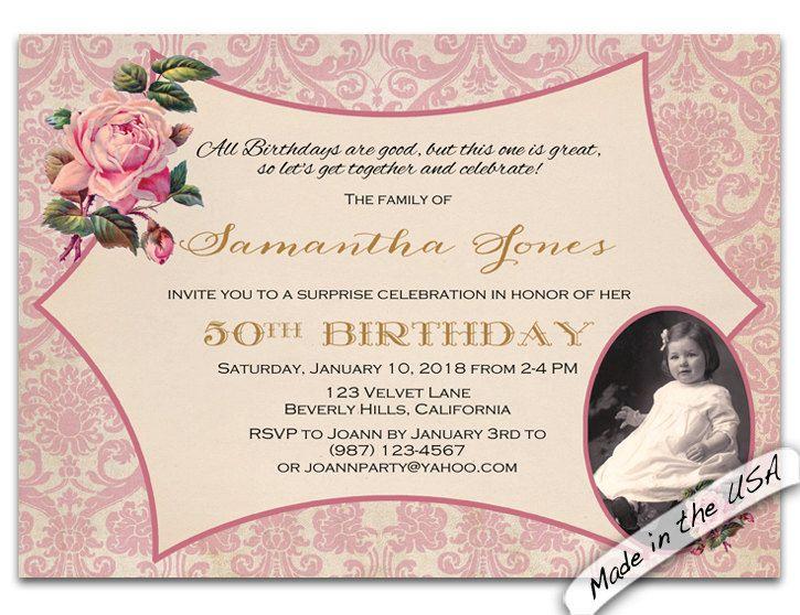 50th Birthday Invitation 50th Birthday Invitation For Women 50th