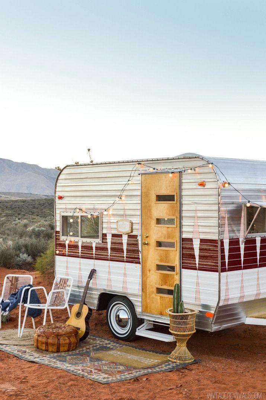 the nugget vintage trailer makeover reveal camp dee pinterest caravane caravane r tro. Black Bedroom Furniture Sets. Home Design Ideas