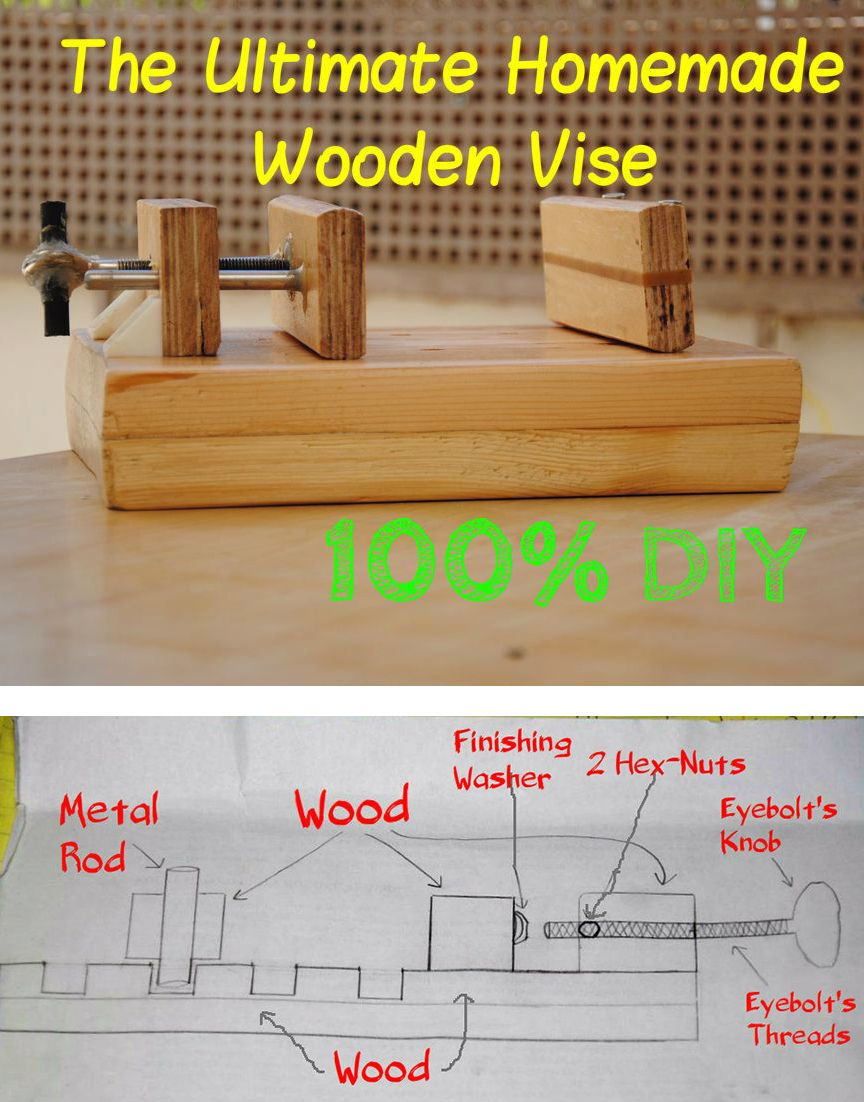 How to Build a Wooden DrillPress Vise Diy woodworking