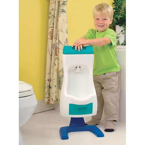 Peter Potty Flushing Toddler Urinal Where was this when my boys were potty training.. Perfect for young little men... love it.