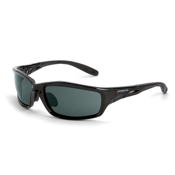 3a7e8c34400 CrossFire Infinity Safety Glasses - Black Frame - Smoke Lens - Full frame  Infinity joins the list of one of top selling designs. The comfortable fit  is easy ...