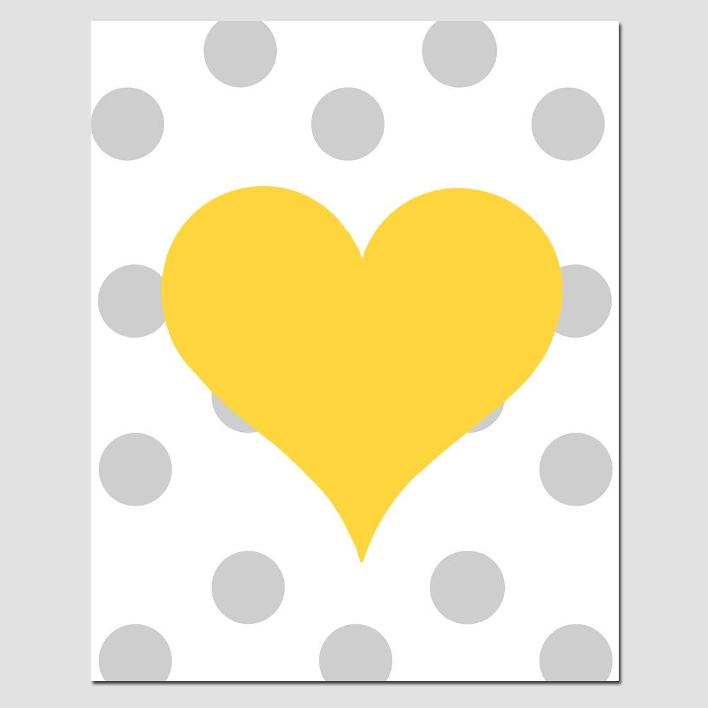 Polka Dot Heart - 8x10 Print - Modern Nursery - Kids Wall Art - Girl ...