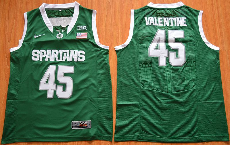 2597b8f6 Michigan State Spartans Denzel Valentine 45 College Basketball Authentic  Jersey