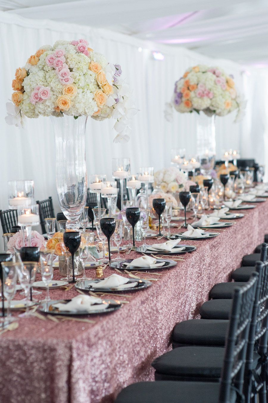 #tablescapes, #linens  Photography: Leila Brewster Photography - leilabrewsterphotography.com/ Event Design + Planning: TRUE Event - trueevent.com Floral Design: Stoneblossom Floral and Wedding Design - stoneblossomflorals.com  Read More: http://www.stylemepretty.com/2013/06/27/old-saybrook-connecticut-wedding-from-true-event-leila-brewster-photography/