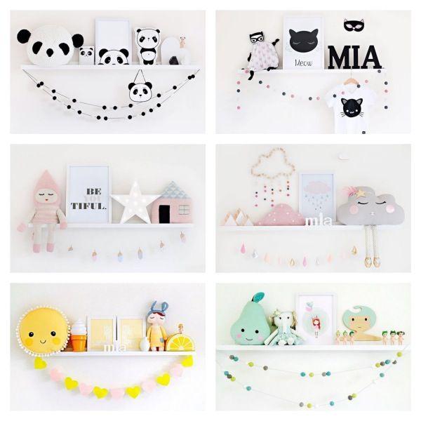 ideas para decorar las estanteras de los dormitorios infantiles y no morir en el intento