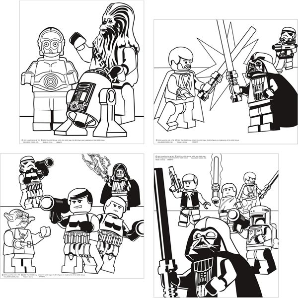 Lego Star Wars Color Your Own Posters (4) | Zach Star Wars Party ...