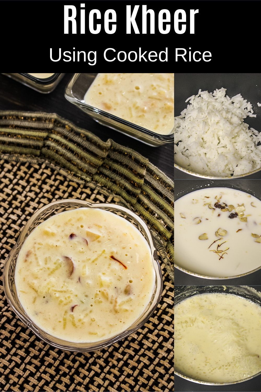 Kheer With Condensed Milk Milkmaid Spice Up The Curry Recipe In 2020 Kheer Recipe Recipes Rice Kheer