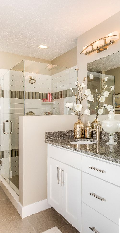 Silver And Gold Silver And Gold Decorate Your Bathroom With A