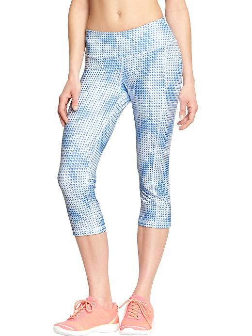 "Women's Old Navy Active Go-Dry Compression Capris (20"") Product Image"