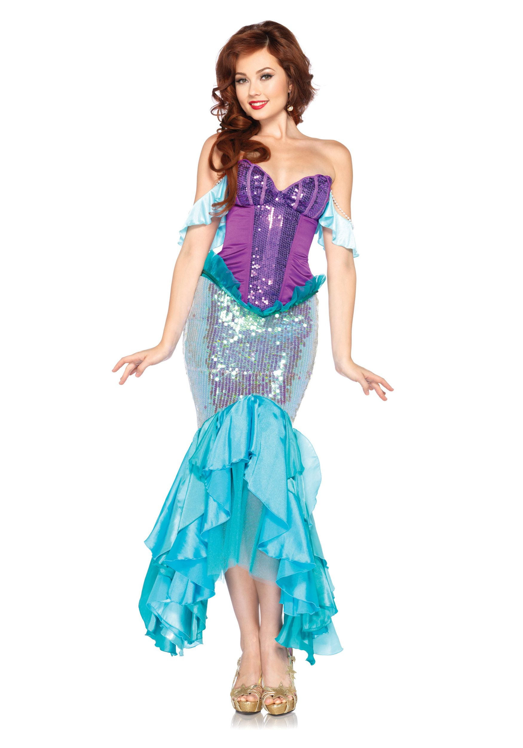 Ladies Deluxe Little Mermaid Style Siren Costume