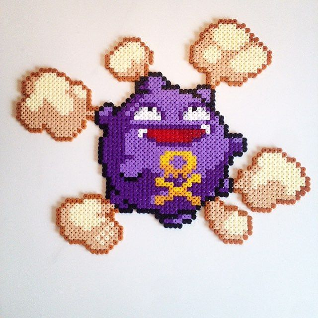 Koffing (109) Pokemon hama beads by victor_sundman | Perler beads ...