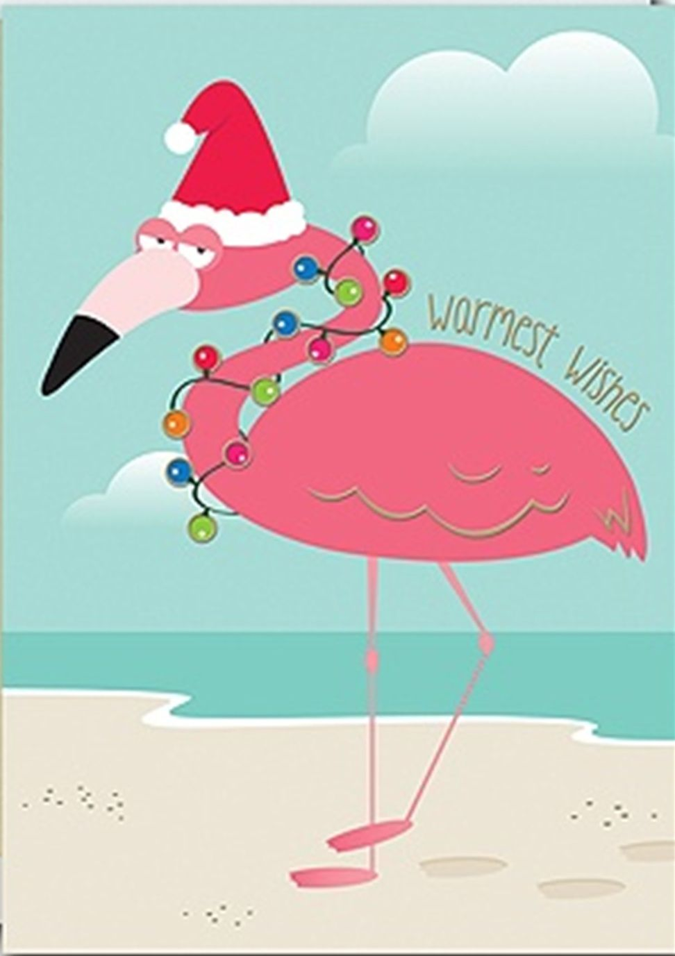 Image Result For Flamingo Christmas Clip Art Christmas
