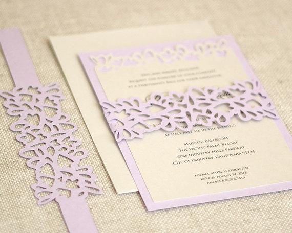 Petal Cutout Wedding Invitations Unique By Timelesspaper 3 50
