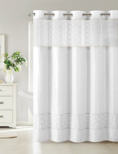 Hookless Rbh40my096 Downtown Soho Shower Curtain With Peva Liner