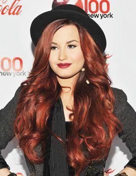 red hair demi lovato this is a great hair color too