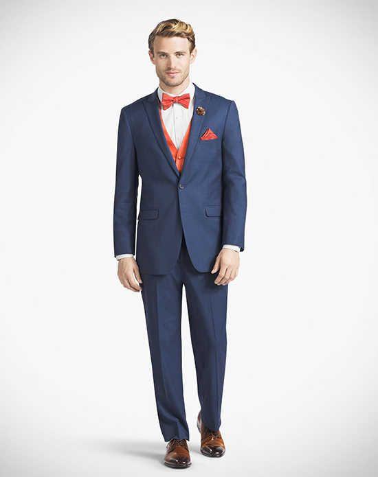 Generation Tux Mystic Blue Peak Lapel Suit Wedding Tuxedos + Suit ...