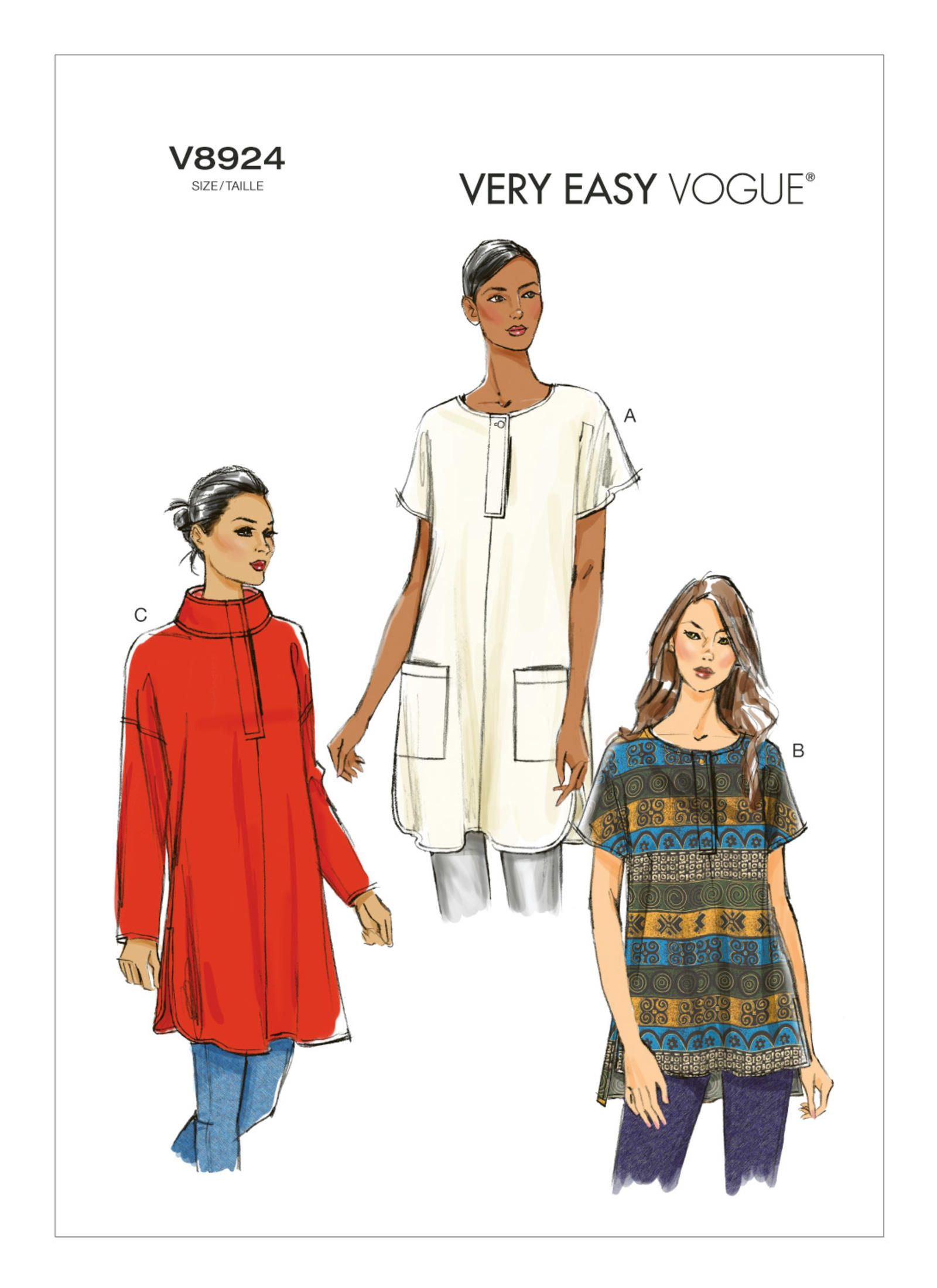 V8924   Vogue Patterns - very easy   Sewing   Pinterest