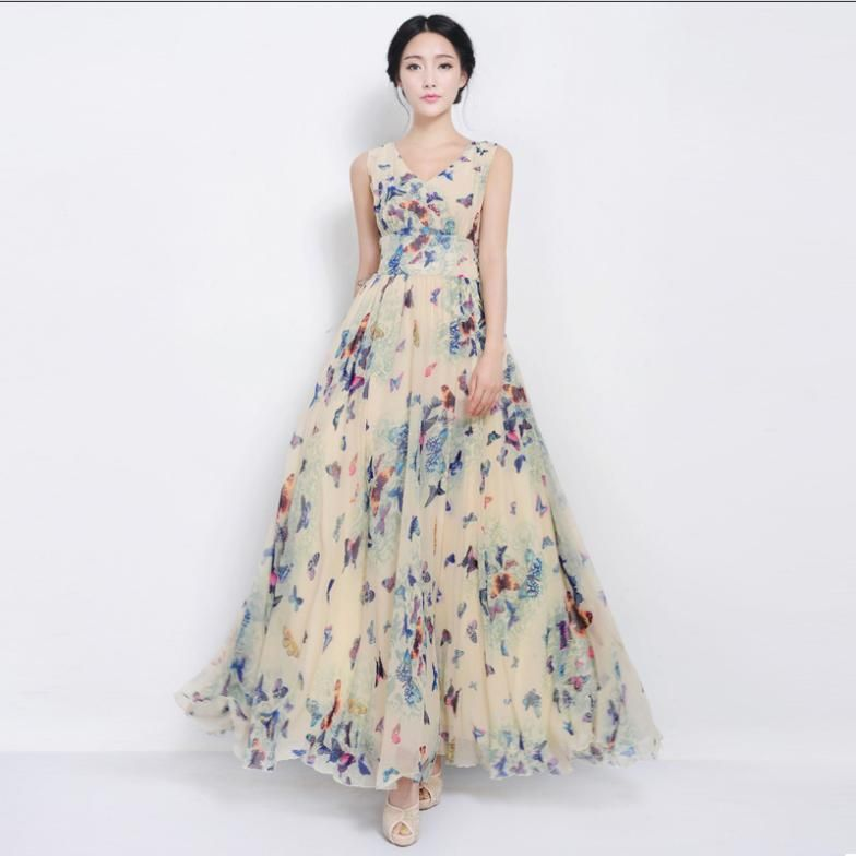 VA]New 2014 women butterfly dress lacing expansion maxi dresses ...