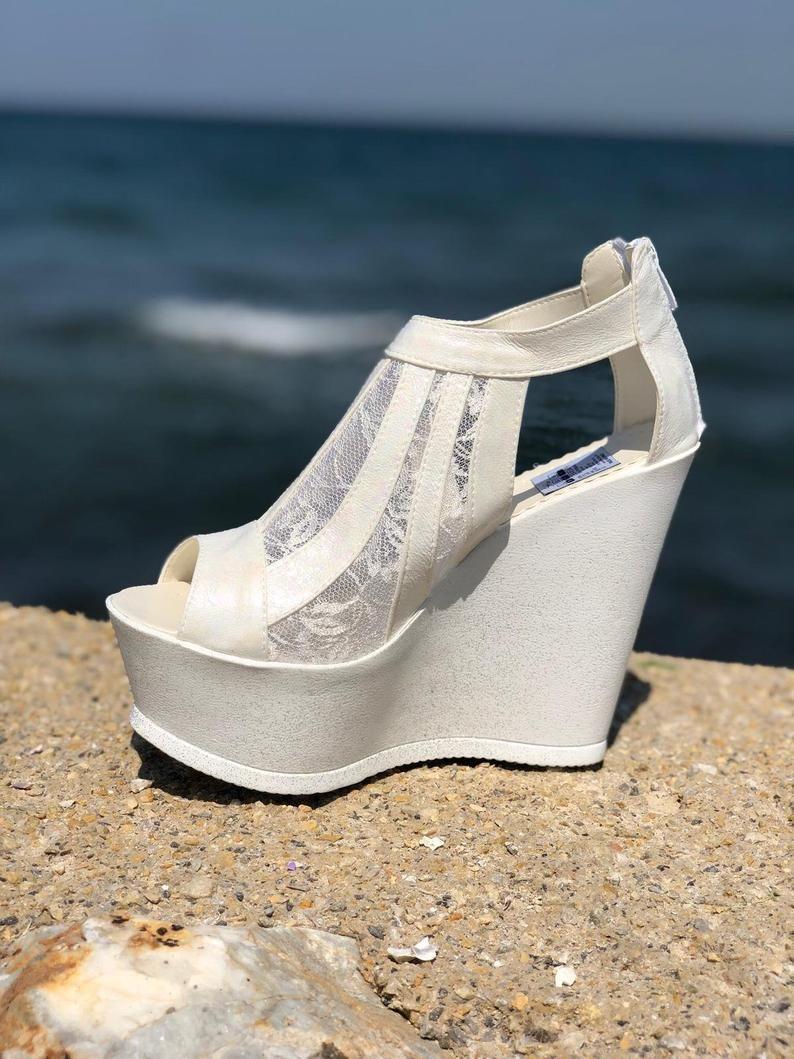 Wedding Shoes Platform Shoes Heel Wedding Shoes Wedge Etsy Wedding Shoes Heels Wedding Shoes Platform Wedge Wedding Shoes