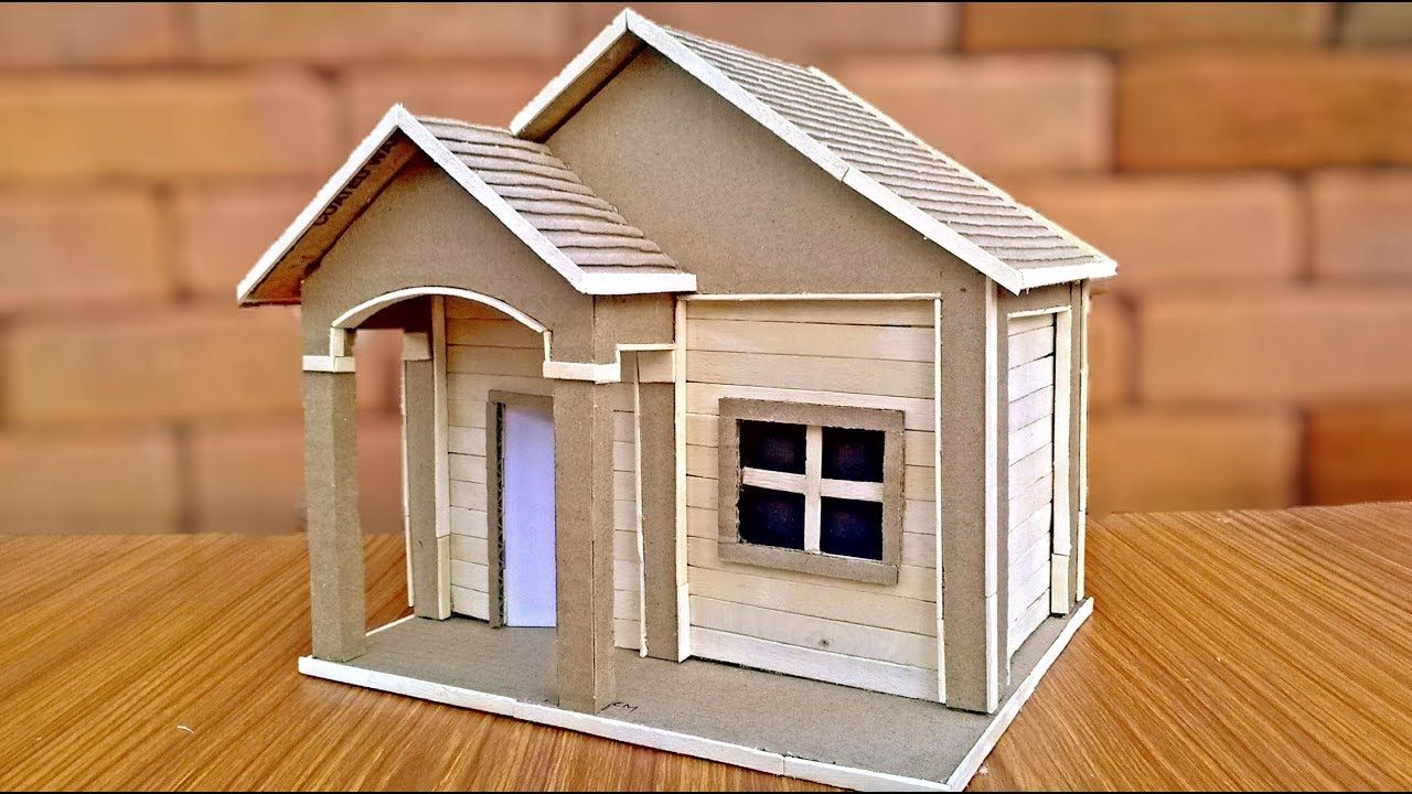 How To Make Cardboard Houses For Kids Popsicle Stick House
