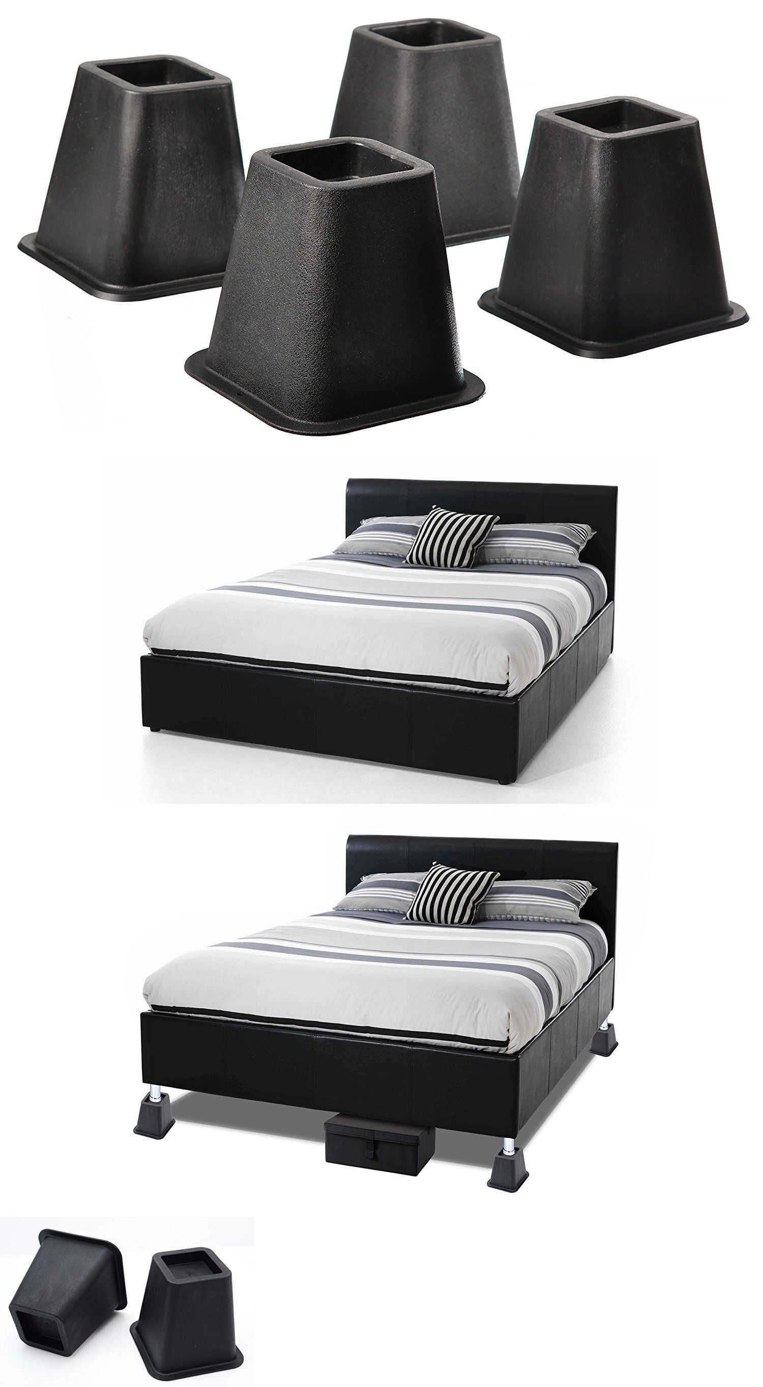 Details About Bed Risers Or Furniture Riser Bed Lifts In Height