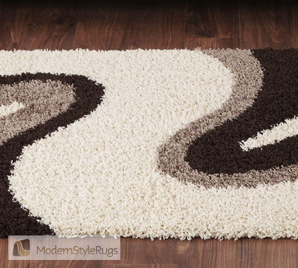 Sienna Ripple Cream Brown Rug Modern Style Rugs Decoraci N  -> Helanca Cortada Para Tapete Frufru