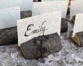 Eco-Friendly Tree-Branch Place Card Holders (Set of 12)
