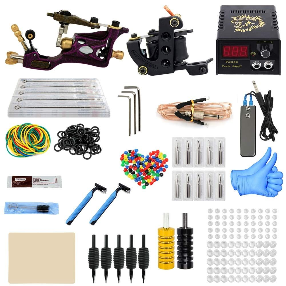 Dxjj Complete Tattoo Kit For Beginners Travel Case Tattoo Supplies