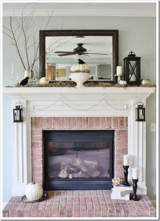 Halloween Mantel Simple colors, Mantels and Garlands