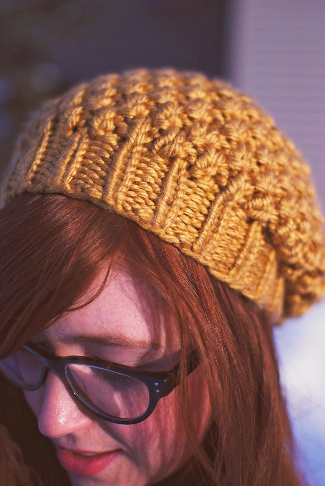 Tiny Painter: Knitting Pattern: Yellow Seed Stitch Beret free ...