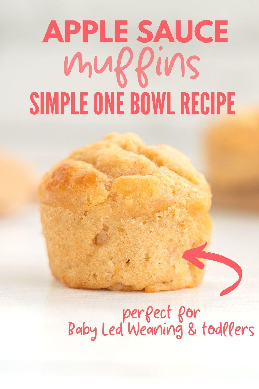 EASY!! Applesauce muffins 🥰