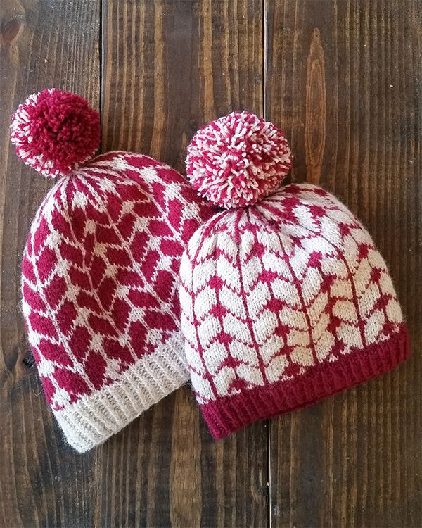 Knitting Pattern for Big Stitch Hat - The design on these ...