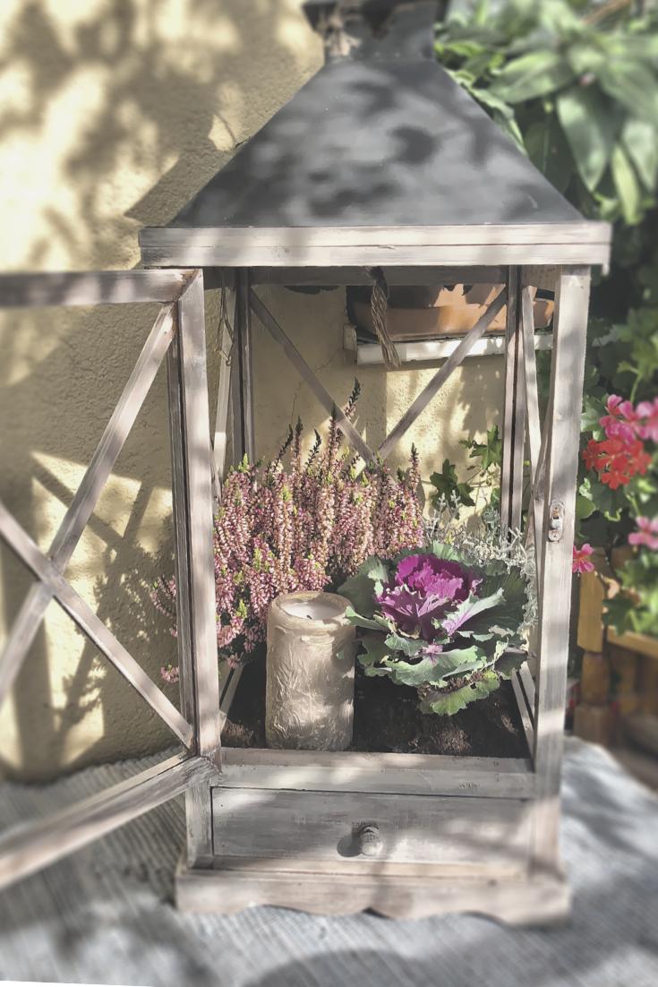 Alte Gartenlaterne Bepflanzen Shabby Look Lslb Magazin Laterne Garten Garten Alte Laternen