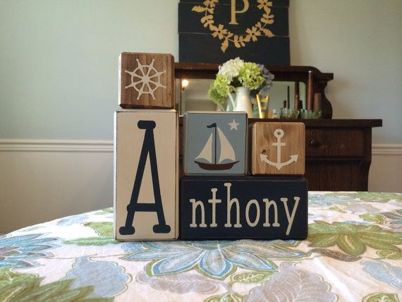 Nautical nursery personalized nautical wood sign nautical nautical nursery personalized nautical wood sign negle Image collections