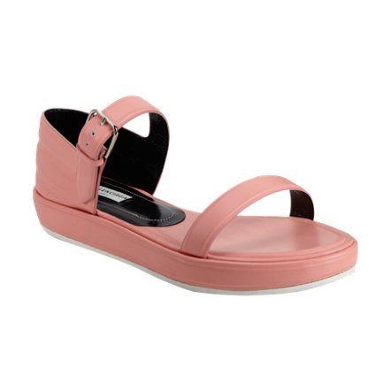 Balenciaga Frequency Double-Strap Platform Sandals at Barneys.com
